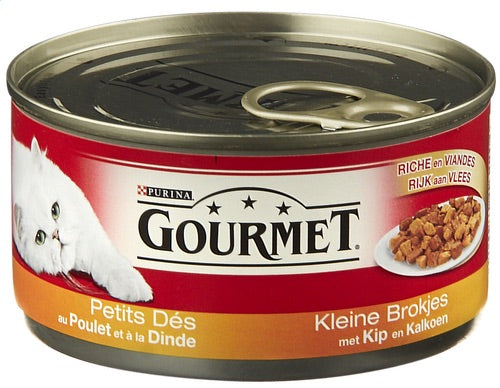 Gourmet cat food 195g