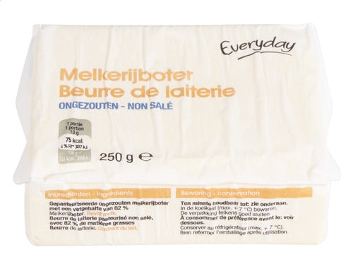 EVERYDAY dairy butter unsalted 250g