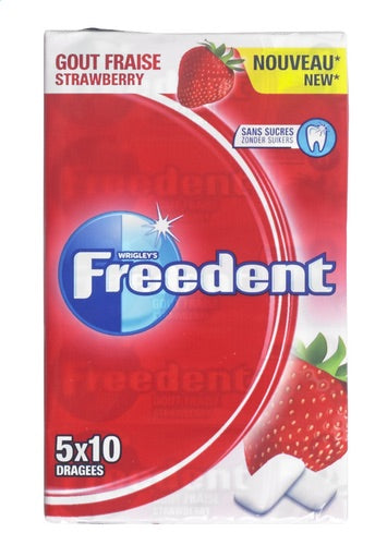Freedent strawberry 70g
