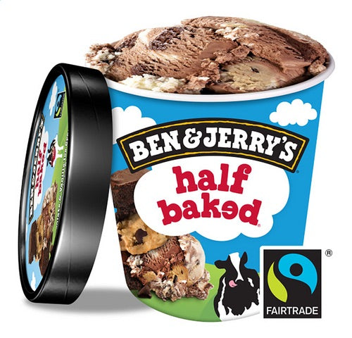 BEN & JERRY'S Half baked ice cream 500ml