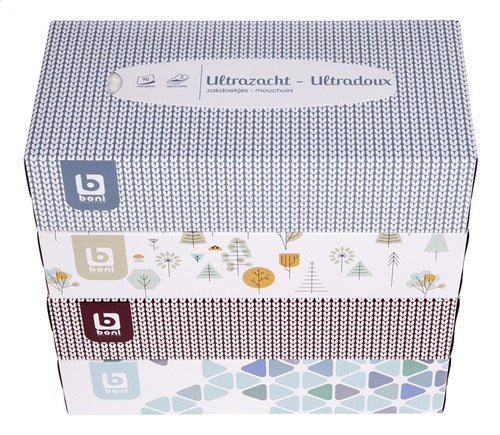 BONI SELECTION handkerchiefs UZ box 90st