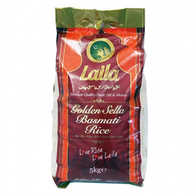 Laila Golden Sella basmati rice 5kg