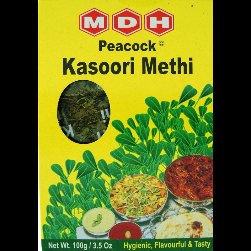 MDH Peacock Kasoori Methi (Dried Fenugreek Leaves)  100g
