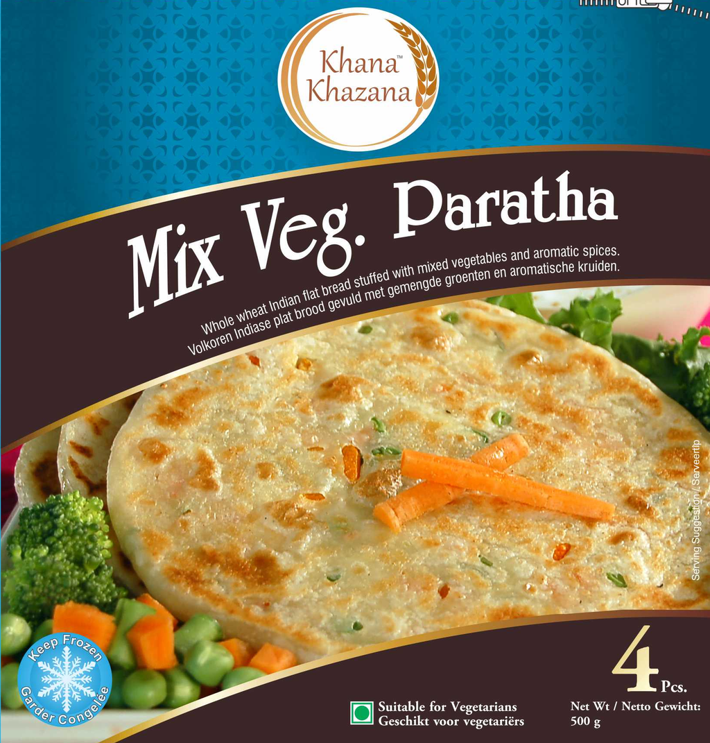 Khana Kazana Frozen MIx Vegetable Paratha 500g