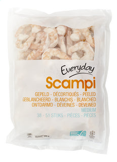 EVERYDAY scampi shelled medium 500g