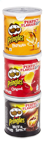 PRINGLES 3PACK ORIG-PAP-HOT & SPICY 3X40G