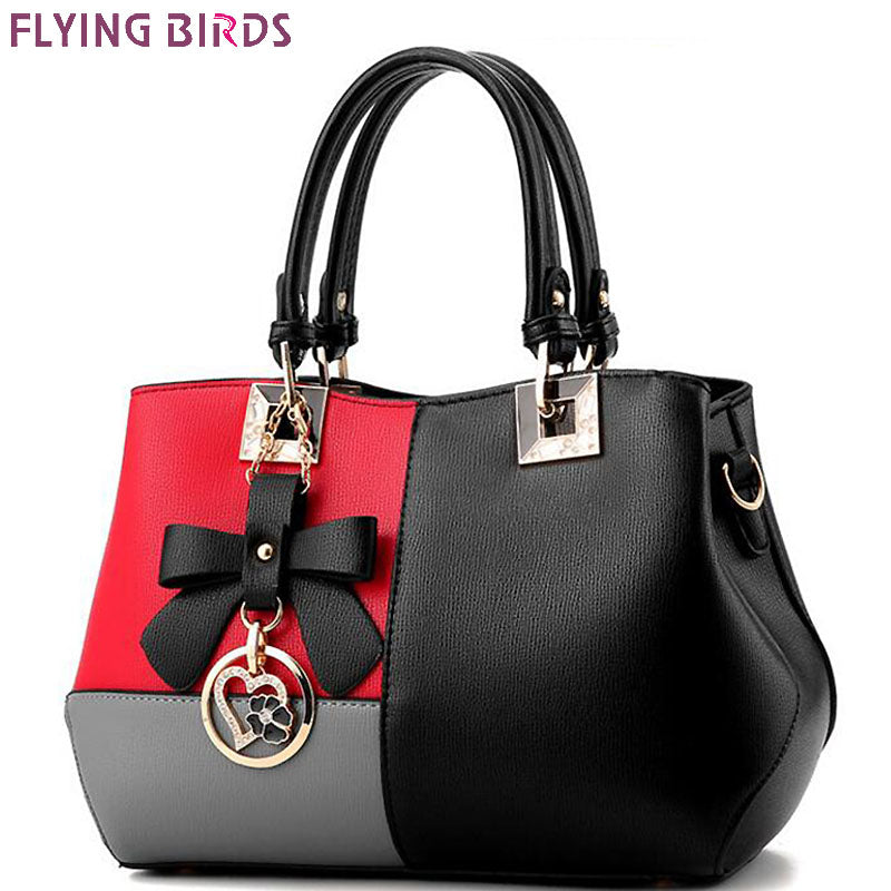 FLYING BIRDS 2017 women leather handbag luxury tote women handbag designer  messenger bags ladies shoulder bag new LM4399fb