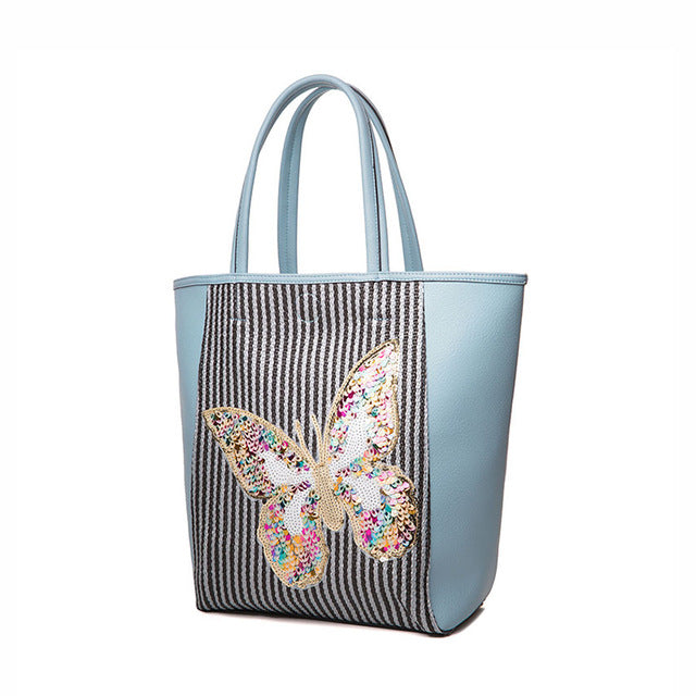 AMELIE GALANTI fashion woman bag totes casual butterfly sequined