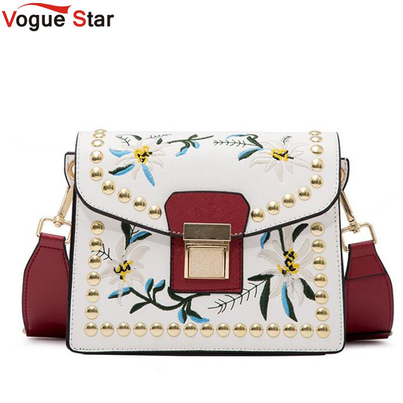 Fashion Women Leather Messenger Bag Flower Handbag Ladies Small Crossbody Bags Women Famous Brands Designers Shoulder Bag  LB151
