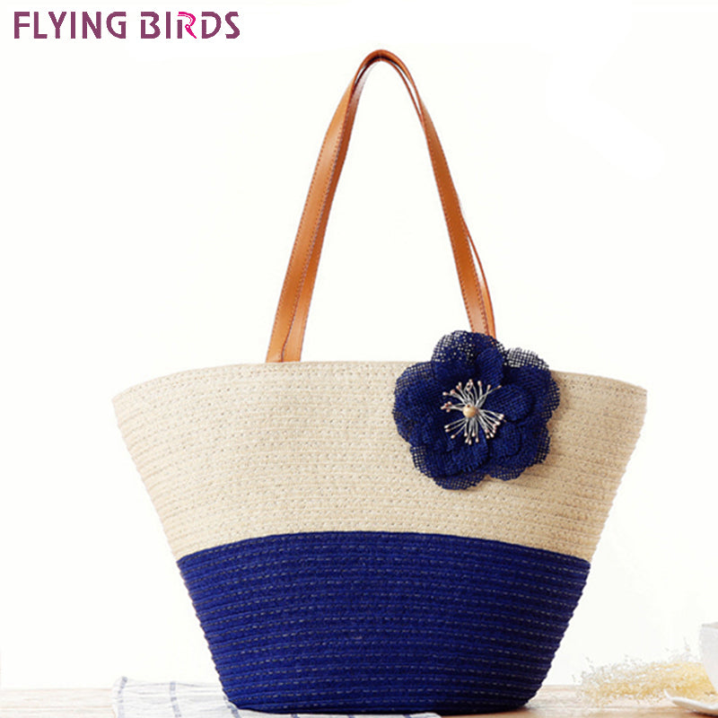 FLYING BIRDS beach handbag women handbags Bohemian women travel bags straw bag summer style handbags women's bags new A1088fb