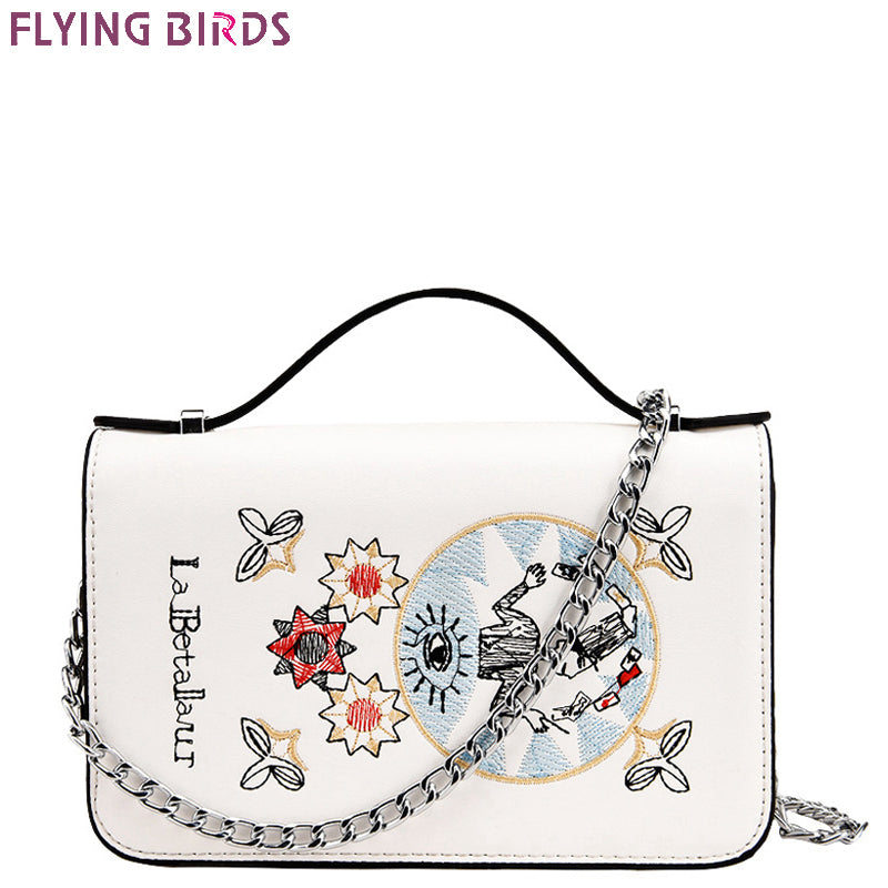 FLYING BIRDS brands women bag for Women messenger Bags girls chain leather handbag designer shoulder bag summer bolsas A1181fb