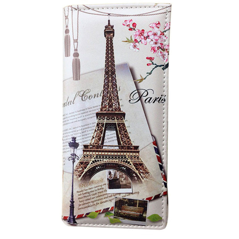 Xiniu wallet women leather Paris Flags Eiffel Tower Lady Long Wallet  Coin Purses Women Wallets carteras mujer dropshiping #WL