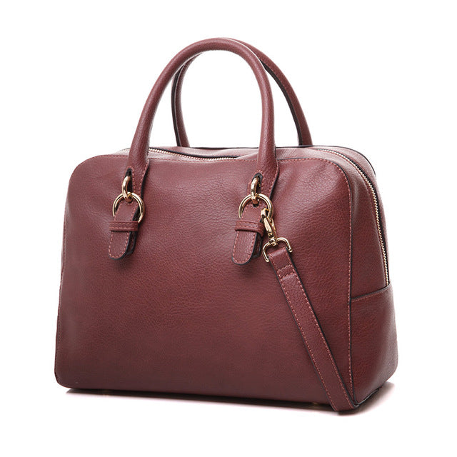 AMELIE GALANTI 2017Handbag Unisex Vintage briefcase Zipper Simple ordinary Large capacity Wide use Go to work school can be used