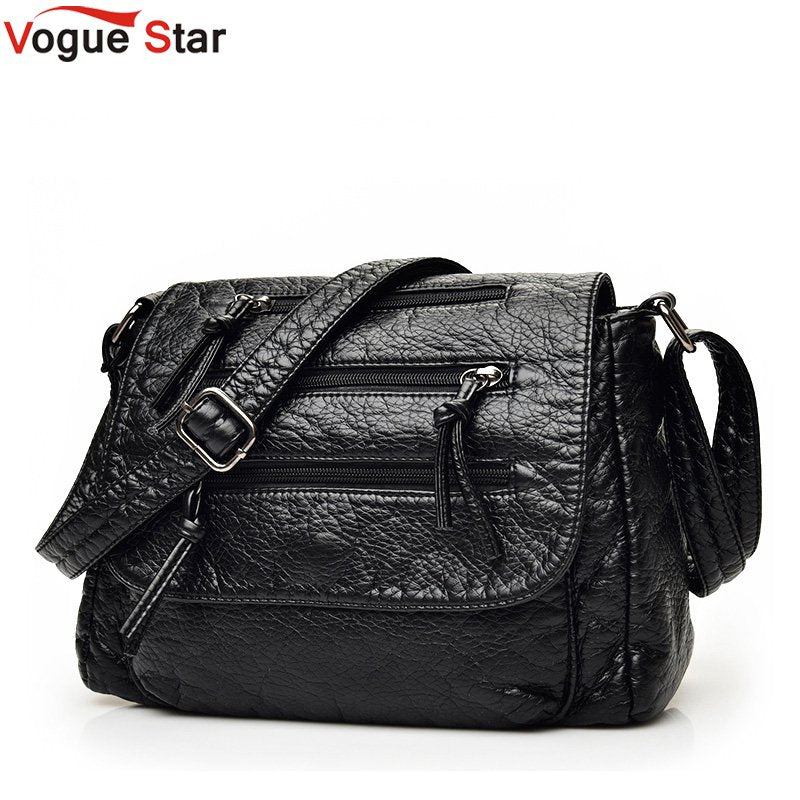 Brand Fashion Soft Leather Shoulder Bags Female Crossbody Bag Portable Women Messenger Bag Tote Ladies Handbag Bolsas LB325