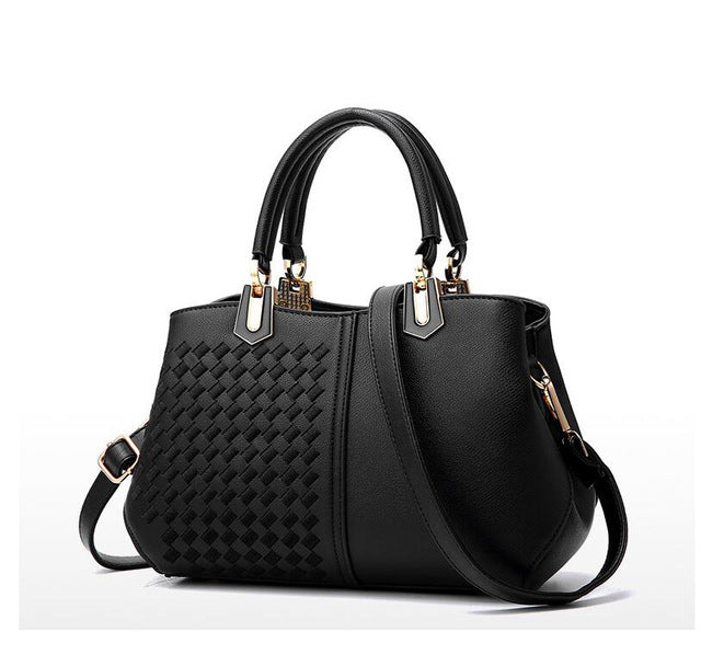 1775b119ee30 Brand Luxury Handbags Women Bags Pu Leather Lady Fashion Zipper Messenger Bag  Female Plaid Shoulder Bags Casual Tote LB349