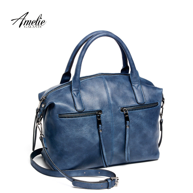 AMELIE GALANTI women bag brand new fashion  with a pillow handbag high quality PU tote bag luxury handbags women bags designer