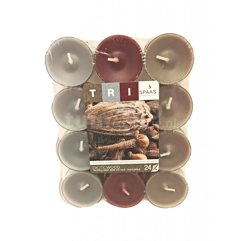 SPAAS tealight Exotic Wood 30 pieces