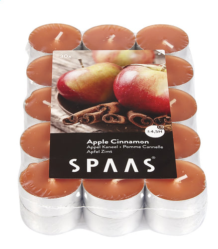 SPAAS tealight Apple Cinnamon 30 pieces
