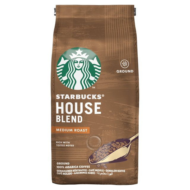 STARBUCKS House Blend, Medium Roast, Ground Coffee 200g