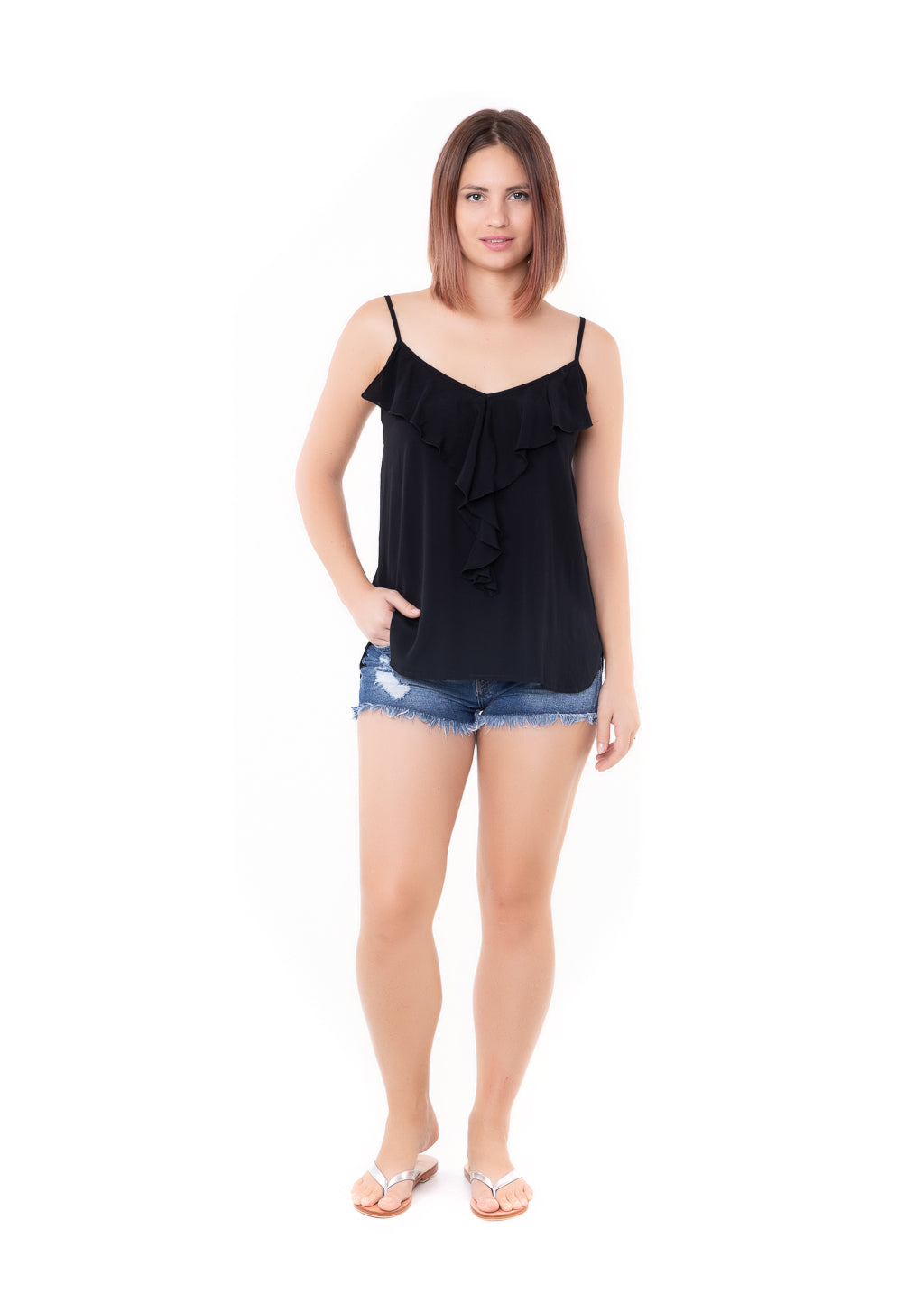 Top Frill - Black