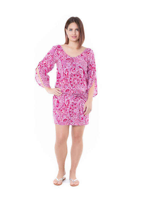 Dress Topsoul - Hot Pink Paisley