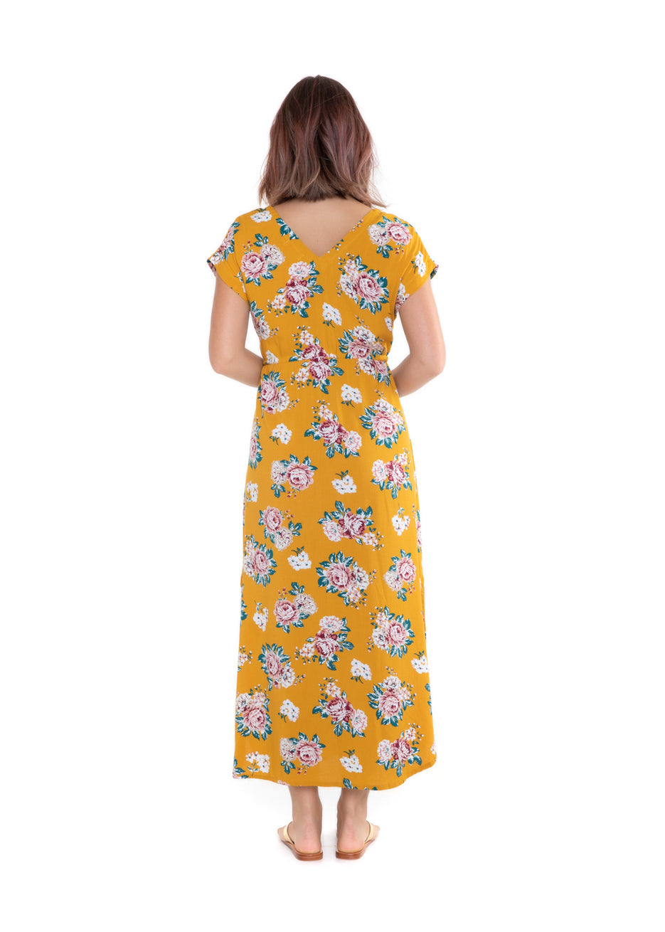 Dress Mia - Mustard Rose