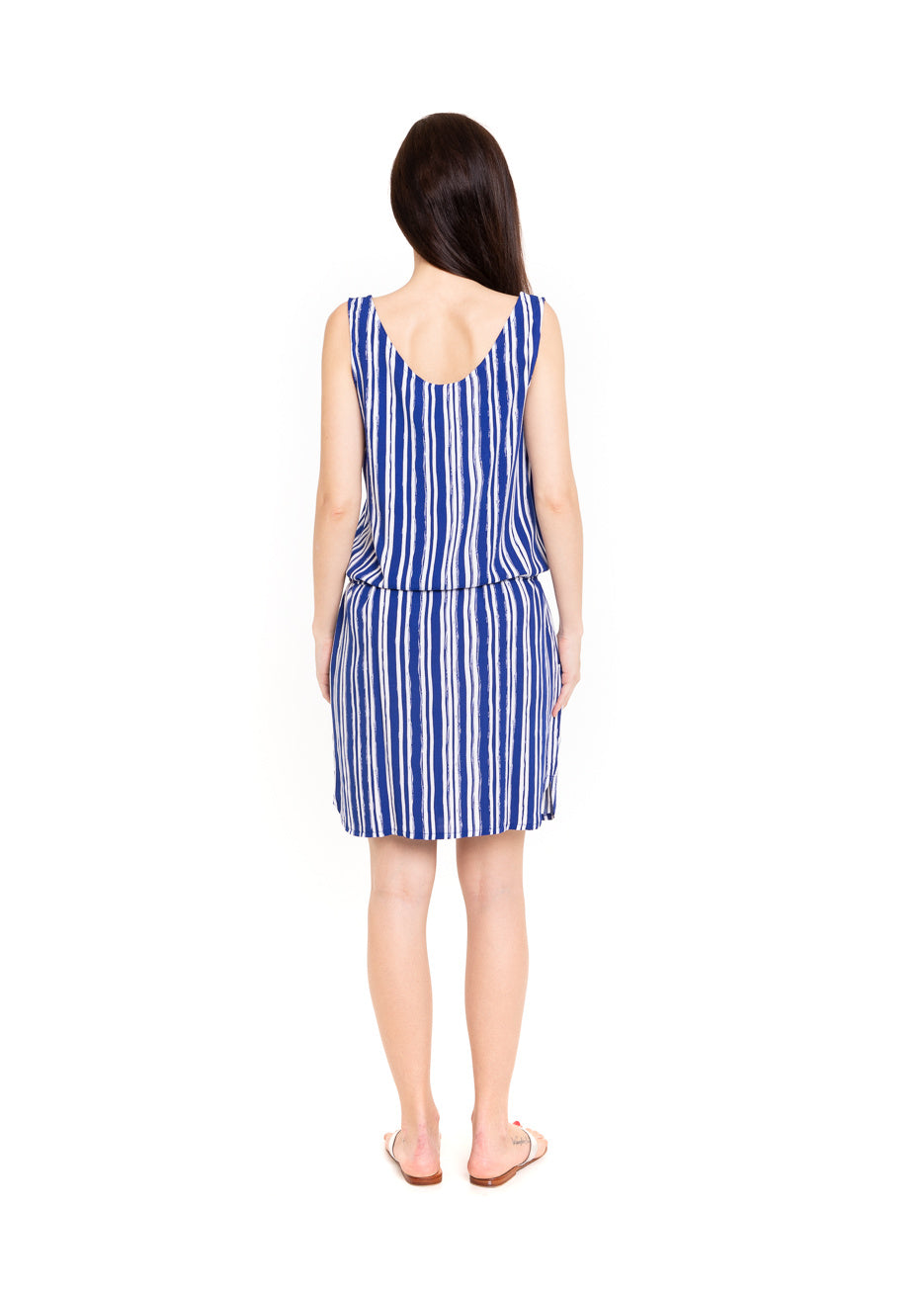 Dress Ella - Royal Stripe
