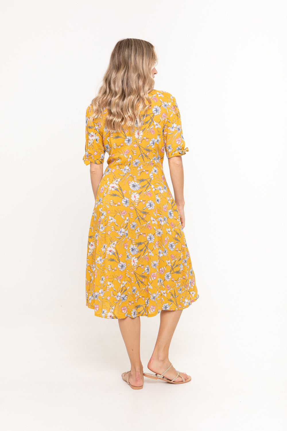 Dress Chloe - Mustard Bloom