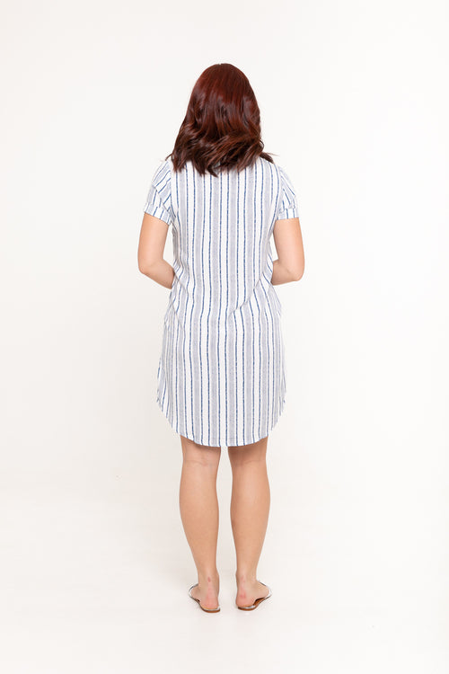 Dress Sammy - Linear Blue