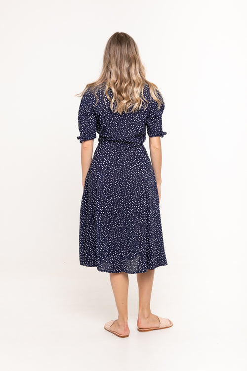 Dress Chloe - Navy Polka