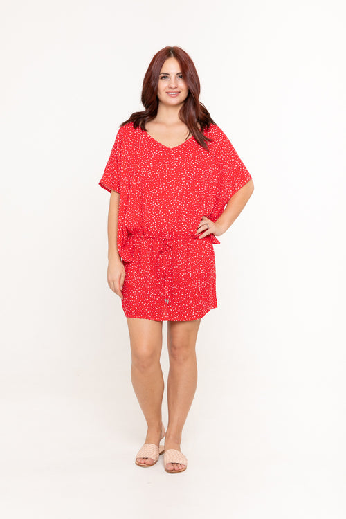 Dress Lexie - Red Polka