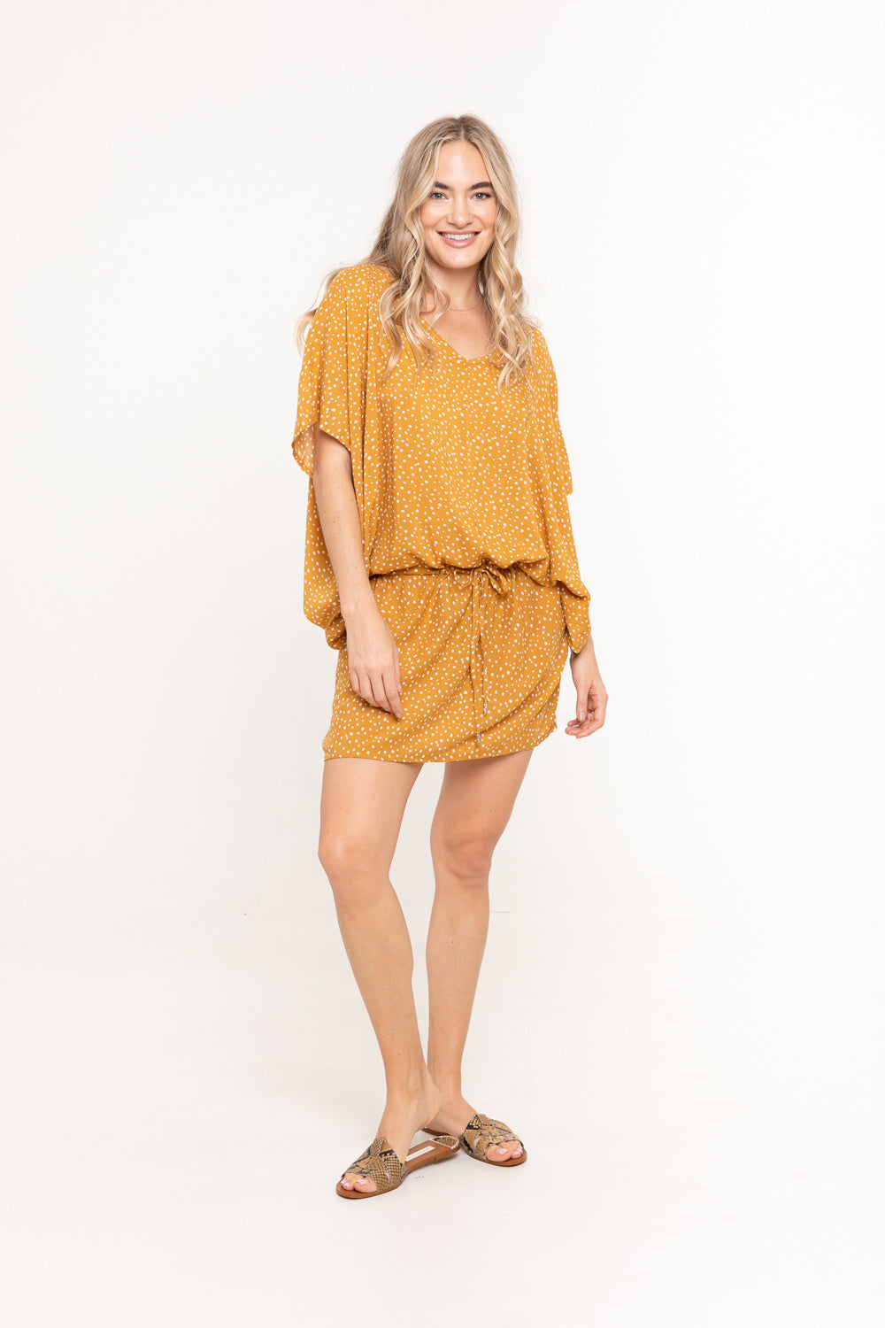 Dress Lexie - Mustard Polka