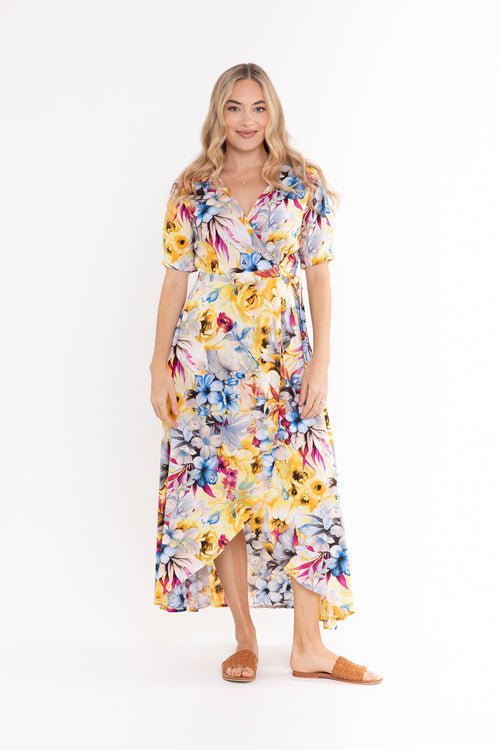 Renae Wrap Dress - Botanical