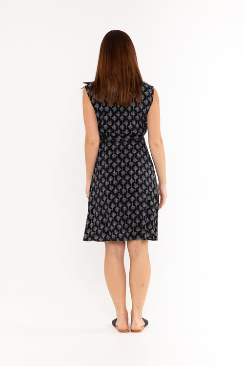 Sandy Wrap Dress - Midnight Pine Tree