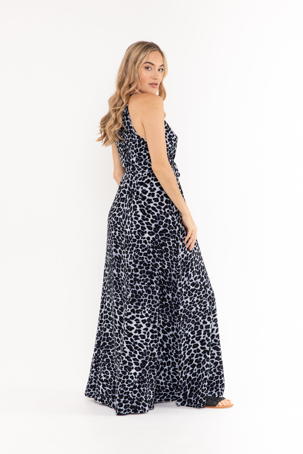 Boho Dress - Snow Leopard