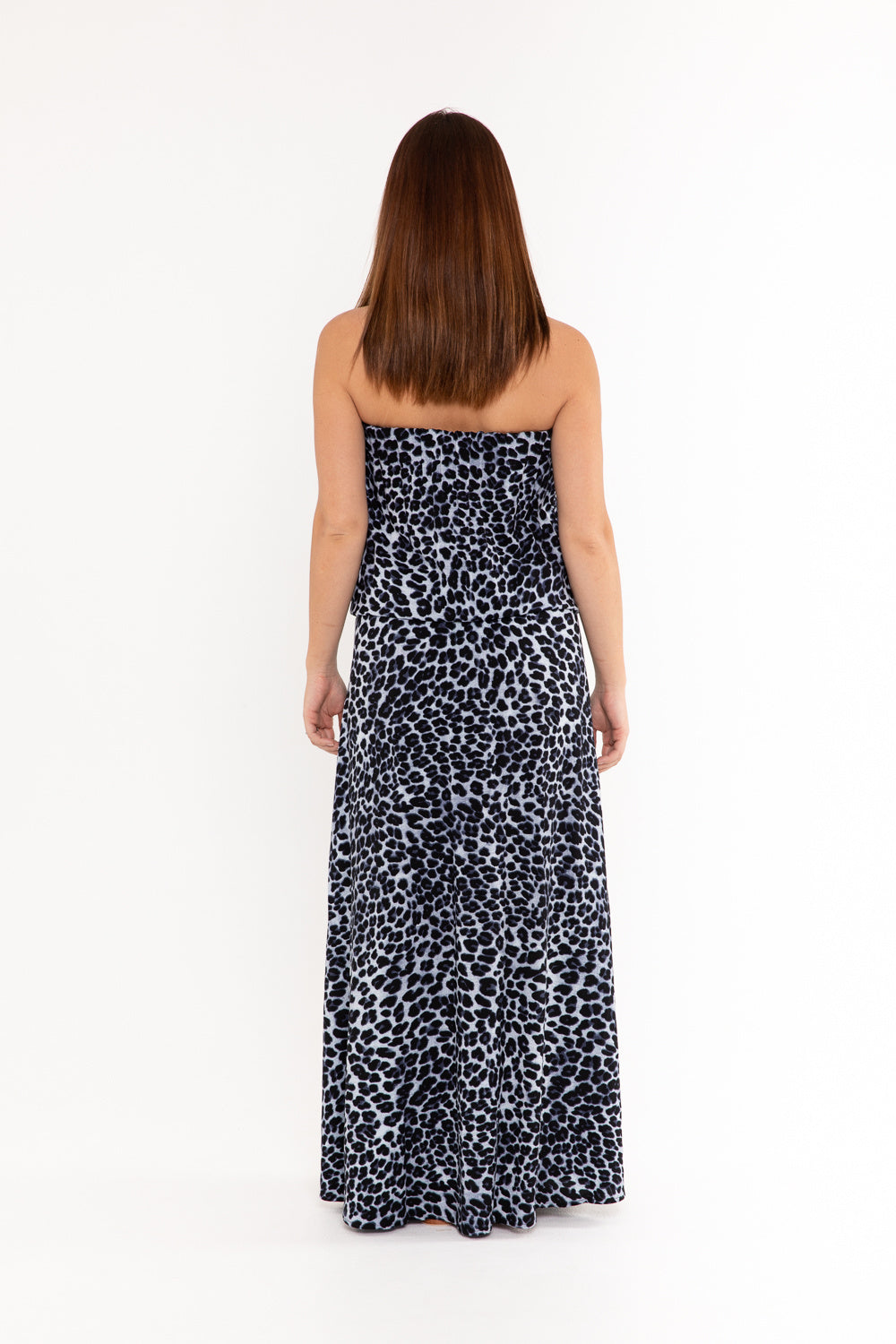 Mandy Dress - Snow Leopard