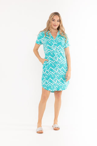 Renae Wrap Dress - Midnight Birds of Paradise