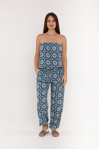 Jumpsuit Strapless - Midnight Pine Tree