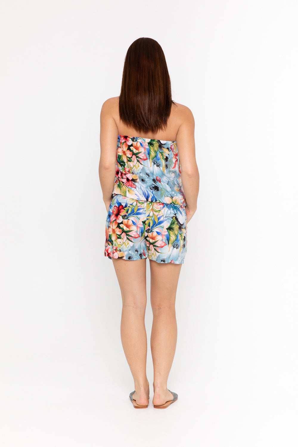 Playsuit Strapless - Beach Rose