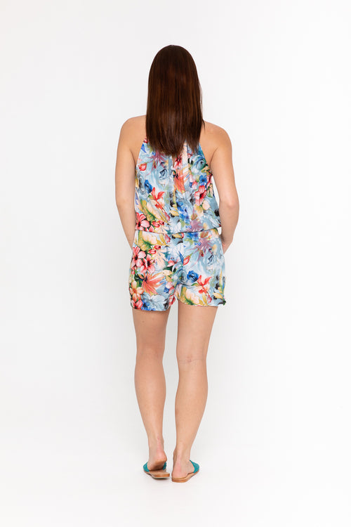 Playsuit Halter - Beach Rose Blue