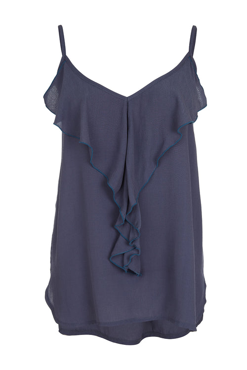 Top Frill - Blue