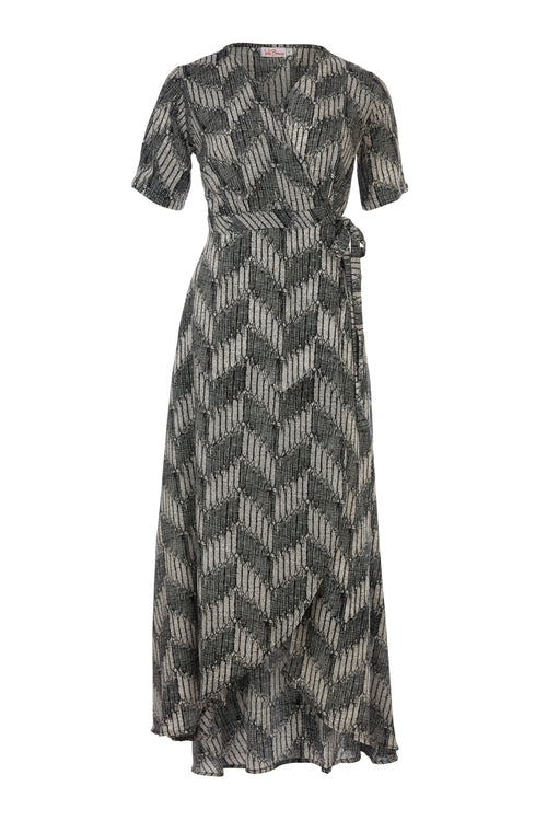 Renae Wrap Dress - Black Shade