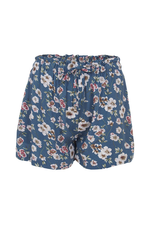 Shorts - Blue Flower