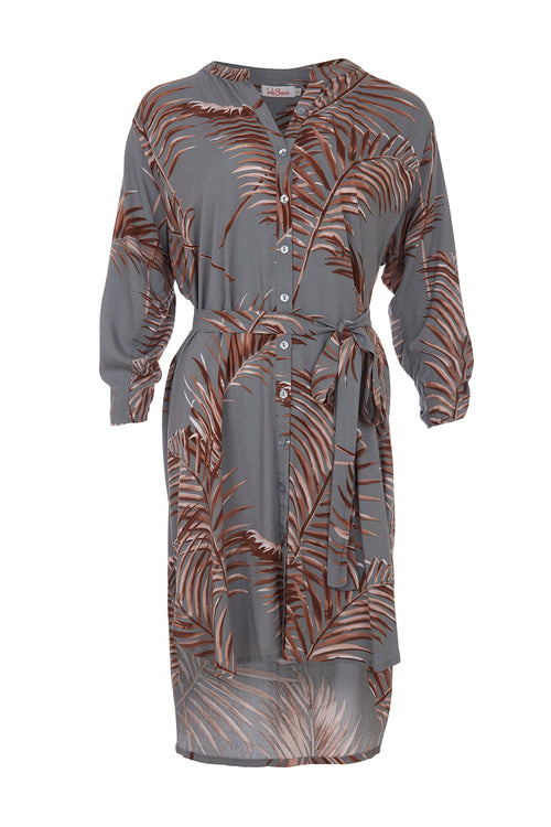 Shirt Dress - Fern Grey