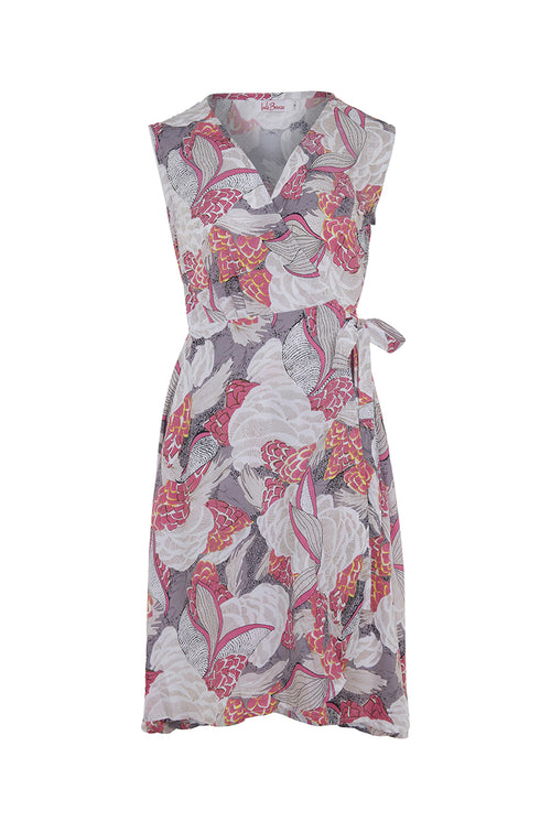 Sandy Wrap Dress - Pink Veronica
