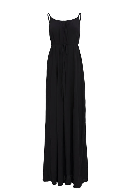 Maxi with belt - Black