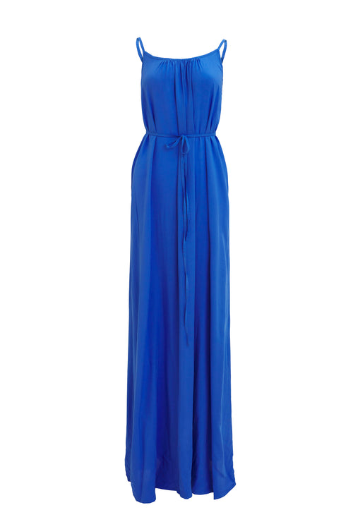 Maxi with belt - Baby Blue