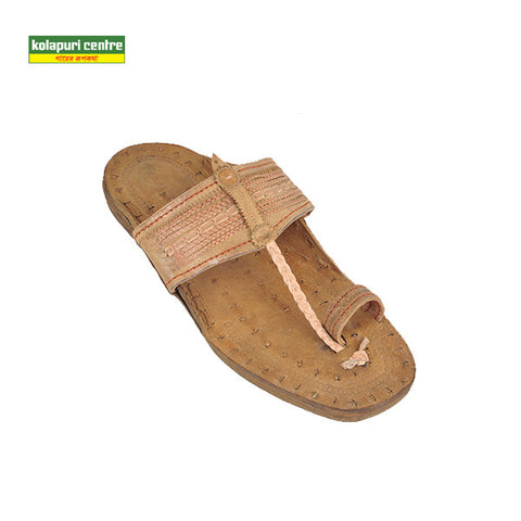 Kolapuri Centre Tan Kolhapuri Plain Sandals