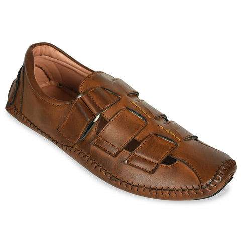 Kolapuri Centre Tan Designer Sandals