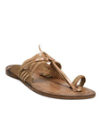 Kolapuri Centre Tan Kolhapuri Sandals